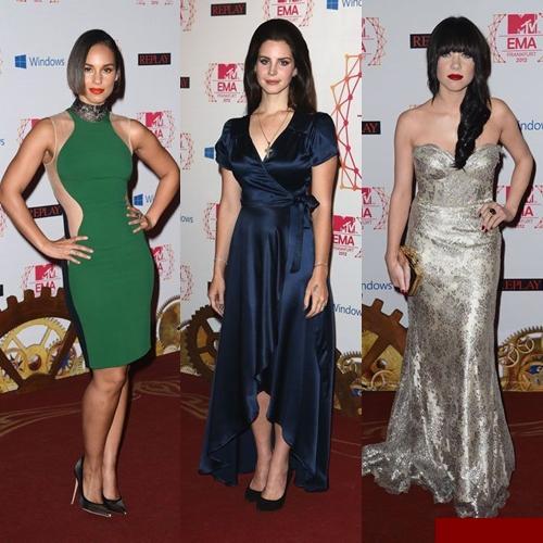 Modele de rochii pe covorul rosu la Gala MTV Europe Music Awards 2012