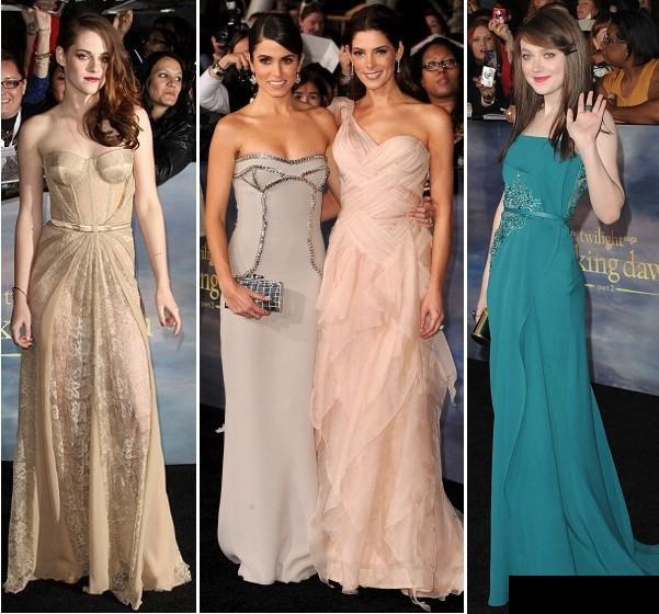 Vampirii nostrii preferati din Twilight si modelele lor de rochii spectaculoase de la avanpremiera internationala!