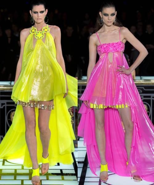 Săptămâna Modei la Paris: rochiile Versace pentru primăvară-vară 2013