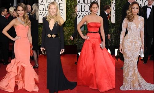 Modele superbe de rochii la Globurile de Aur 2013