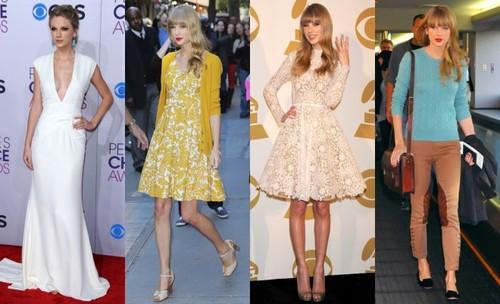 Stil de vedetă: Taylor Swift, pe BlogModele