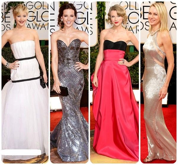 GLOBURILE DE AUR 2014: Cele mai spectaculoase rochii ale vedetelor!