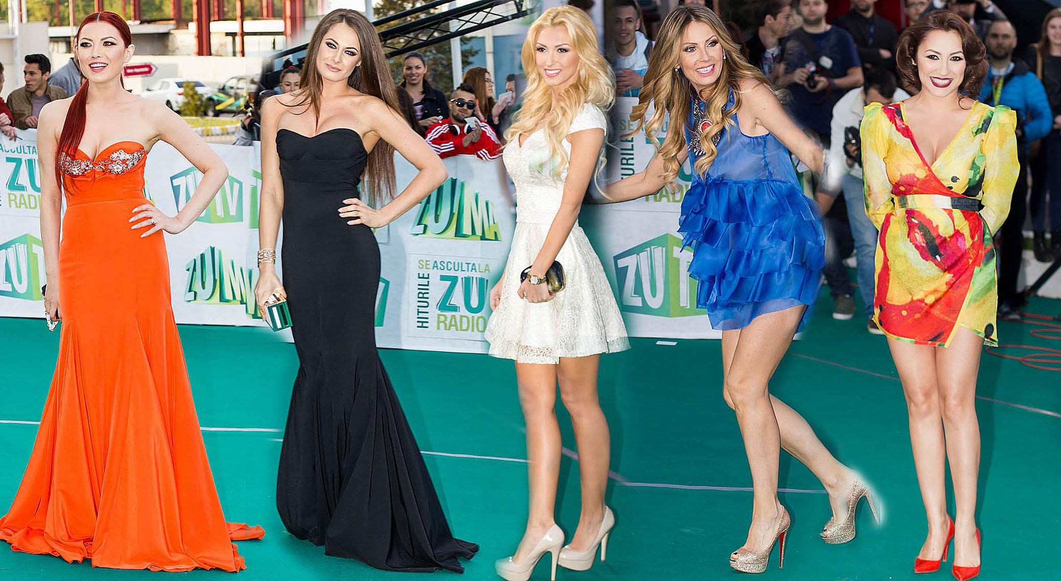 Cele mai spectaculoase rochii de vedete la ZU Music Awards