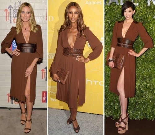 Heidi Klum, Iman si Chiling Lin in aceeasi rochie!