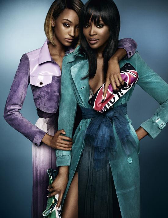 Naomi Campbell si Jourdan Dunn pentru noua campanie Burberry