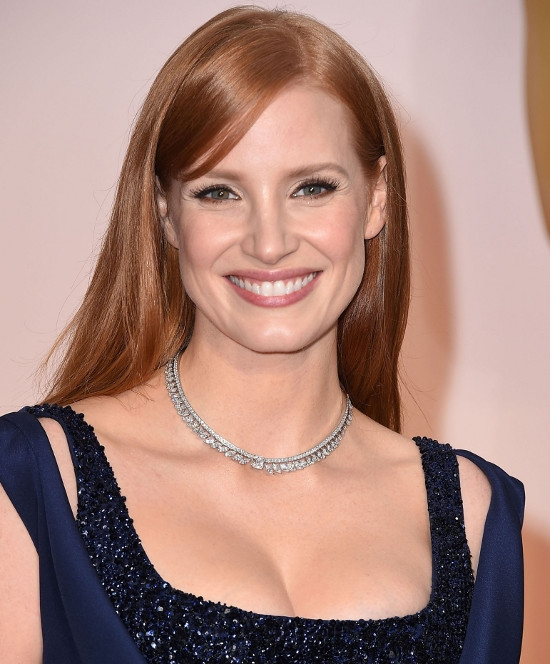 Jessica Chastain (colier Piaget)