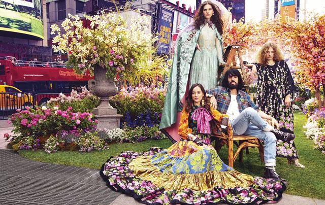 Lansare  inedita al noului parfum Gucci in Times Square