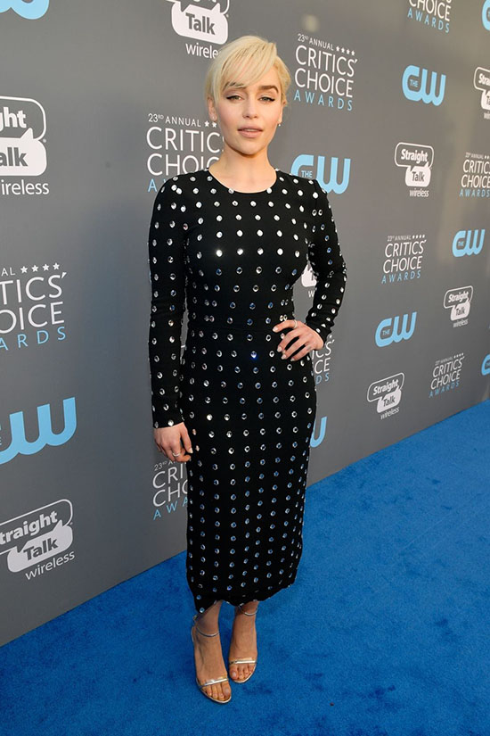 Emilia Clarke rochie Dolce&Gabbana