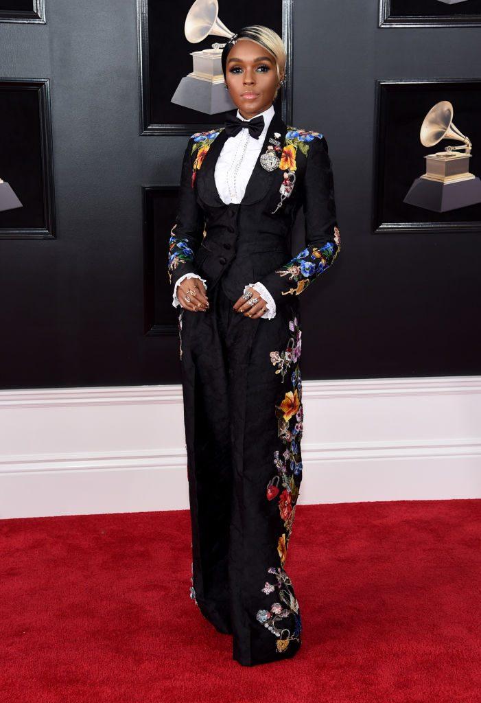 Janelle Monae costum Dolce & Gabbana