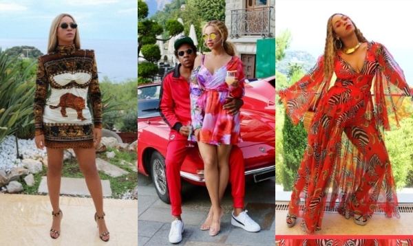Tinute purtate de Beyonce in vacanta din Europa