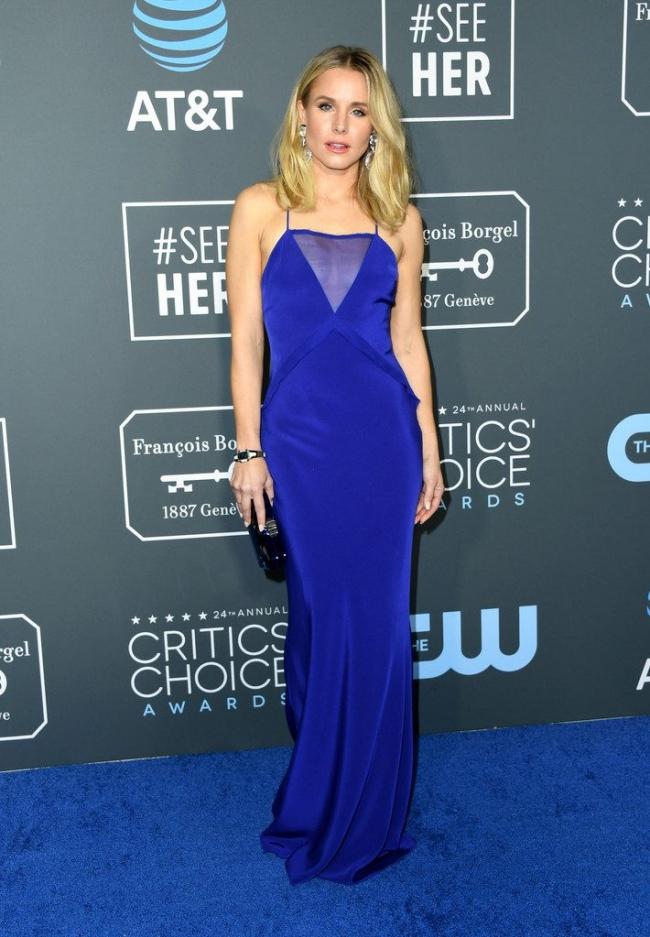 Kristen Bell intr-o rochie Cushnie