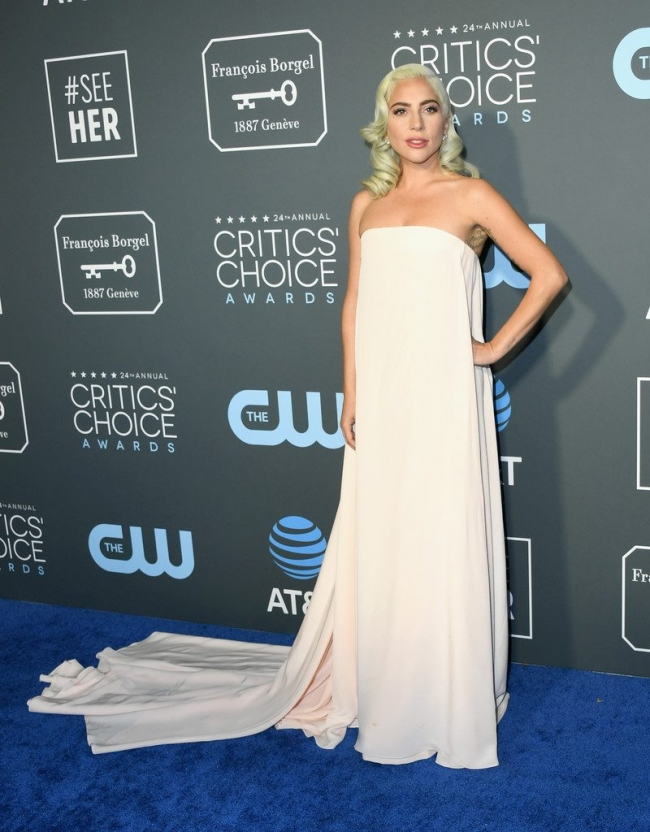 Lady Gaga intr-o rochie Calvin Klein By Appointment