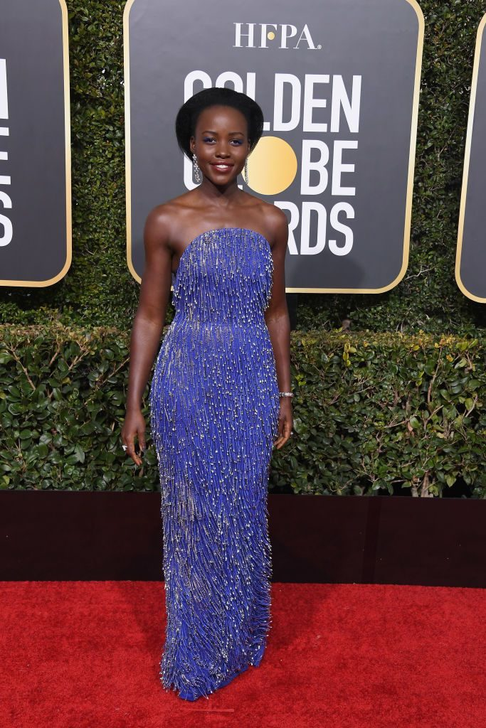 Lupita Nyong'o in rochie Calvin Klein by Appointment si bijuterii Bvlgari