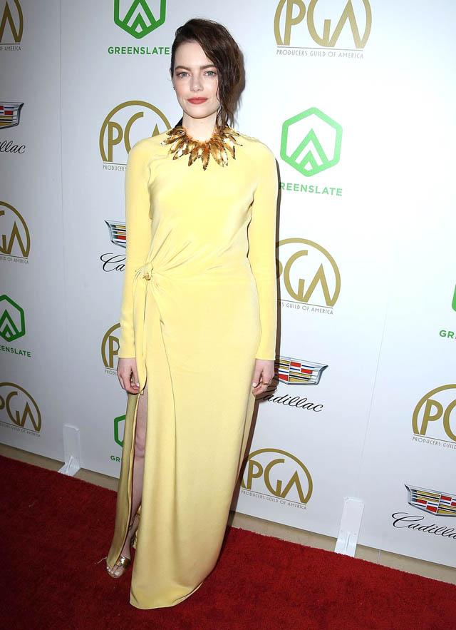 Emma Stone in rochie Louis Vuitton