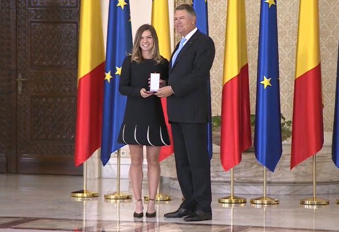 Simona Halep-eleganta la intalnirea cu presedintele Klaus Iohannis