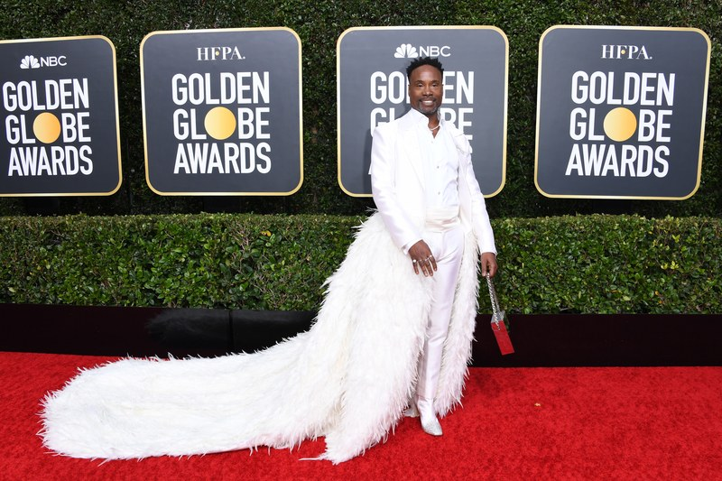 Billy Porter (pantofi Jimmy Choo, bijuterii Tiffany & Co. si clutch Emm Kuo)