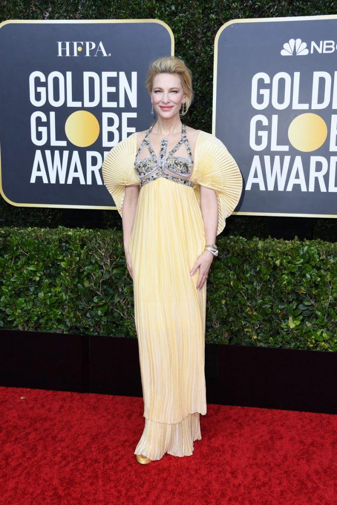 Cate Blanchett (rochie Mary Katranzou si pantofi Stuart Weitzman)
