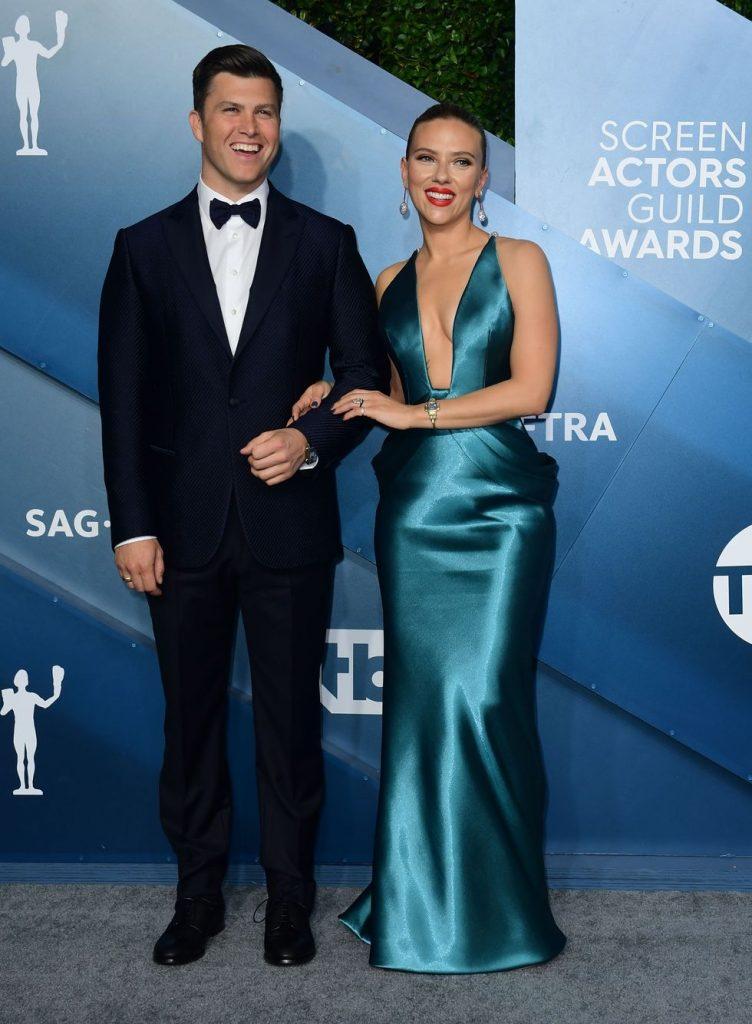 Scarlett Johansson si Colin Jost
