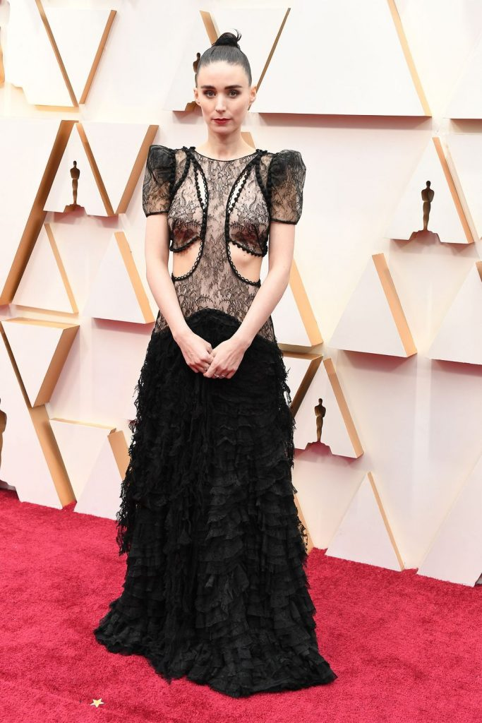 Rooney Mara in Alexander MxQueen