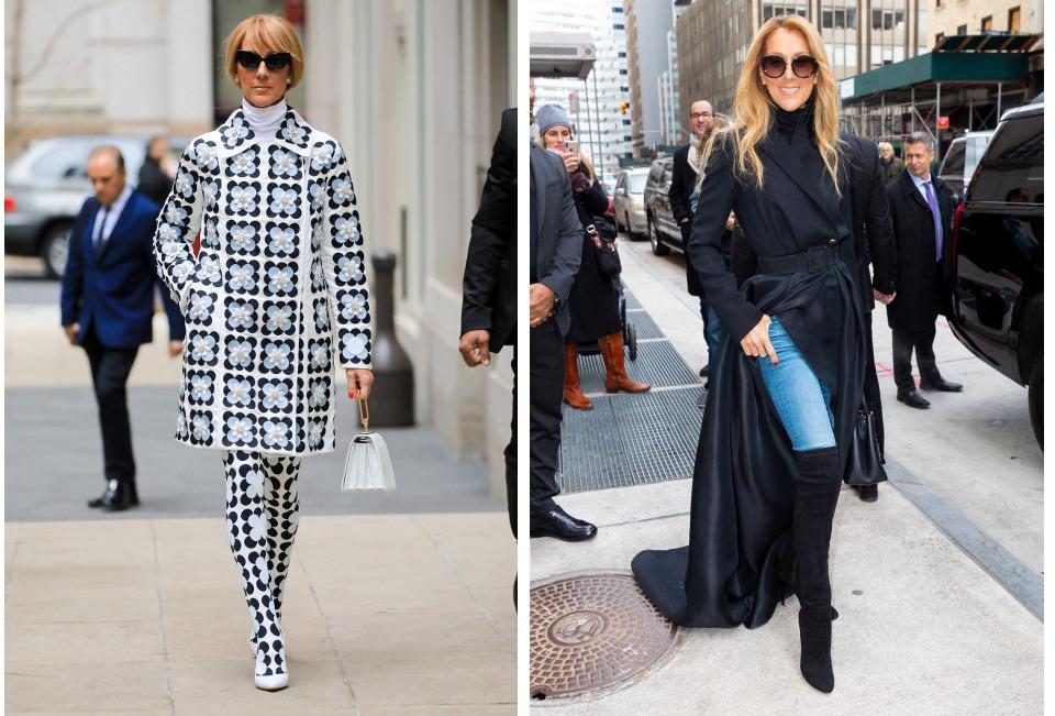 Fashionista Celine Dion furori pe strazile din New York